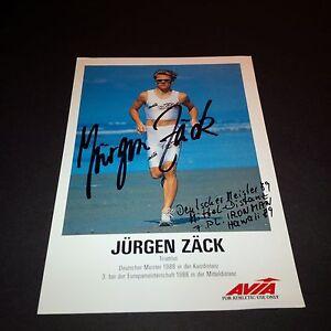 JÜRGEN ZÄCK TRIATHLON signed Autogrammkarte 10x15 1994–2001 7 × Sieger Ironman