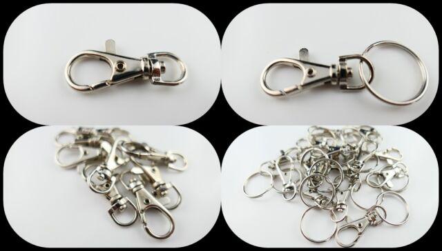 5X Abnehmbar Schlüsselanhänger Schlüsselringe Swivel Karabinerhake Lobster Clasp