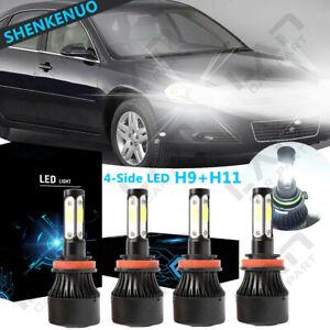 4side H9 H11 Led Headlight Bulb Hi Low Beam For Chevy 2006 2013 Impala 2004 2007 Ebay