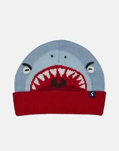 Joules-Boys-Chummy-Knitted-Character-Hat-Blue-Shark-3Yr-7Yr