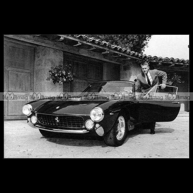 #pha.015175 Photo FERRARI 250 GT LUSSO & STEVE MCQUEEN Car Auto