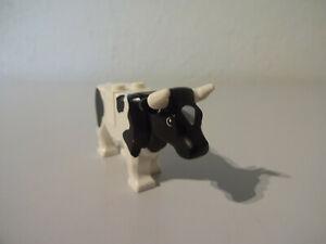 LEGO Black /& White Cow *EXCELLENT CONDITION* Farm Cattle Animal 7637 64452pb02