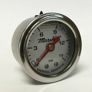 Marshall-1-5-034-Direct-Mount-Liquid-Filled-Fuel-Pressure-Gauge-Silver-Dial-LS00015