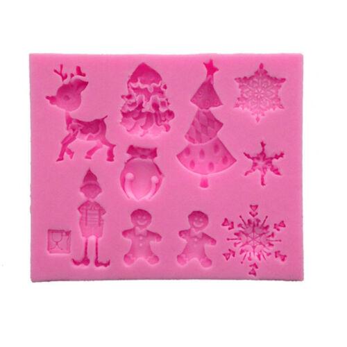 Sugarcraft Christmas Silicone Cake Fondant Mold Decorating Chocolate Mould Tools