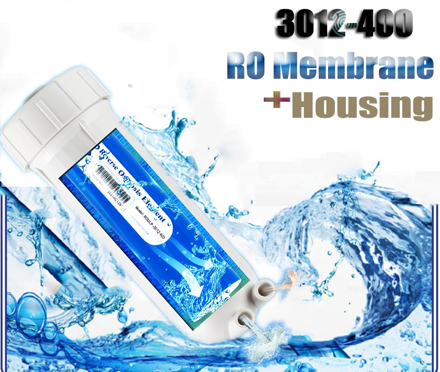 3012-400 Water Filter RO Membrane+Housing Replacement High Speed Filtration
