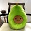 Cartoon avocado pillow fruit plush toy avocado doll