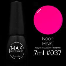 MAX 7ml Nail Art Color UV LED Lamp Soak Off Gel Polish #037-Neon Pink