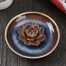 3 Stick Hole Ceramic Incense Holder Burner Lotus Plate Censer Home Fragrances
