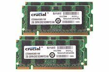 Crucial 8GB 4X 2GB DDR2 2RX8 PC2-6400S 800MHz 200PIN SODIMM Laptop Memory RAM