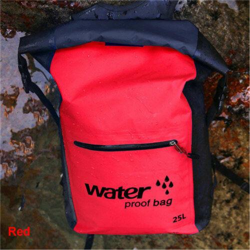 25L Outdoor Waterproof Swimming Bag Backpack Bucket Dry Sack Storage Bag Rafting