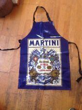 Vintage Martini Oil Cloth Apron Bianco Martini & Rossi - Made in England
