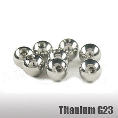 4 Stück Set GOLD Piercing Kugeln 1,6mm Gewinde Schraubkugel in 3//4//5//6 mm