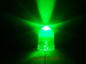 100pcs-10mm-18000mcd-LED-Lamp-Ultra-Bright-Green-Light-DIY-New