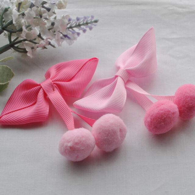 20/100pcs Mix Lovely Grosgrian Ribbon Bows Flower Rose Appliques 75x60mm ZXA0363