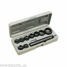 SEALEY TOOLS Carbon Steel Gasket Cork Leather Punch / Punching Cutting Set 10pce