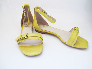 Women Sandals Flat Shoes Leather Noe Flats Slippers Lemon PwEtqTndF
