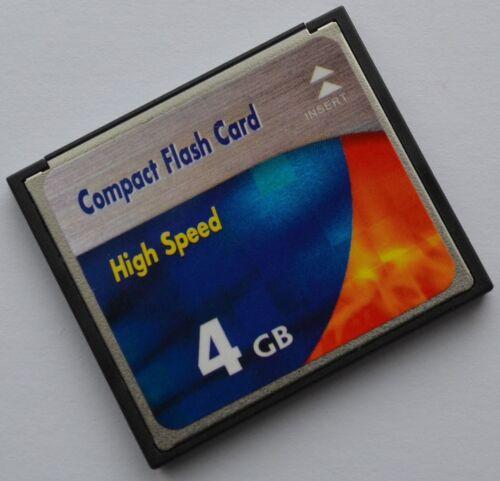4 GB scheda di memoria Compact Flash per Canon EOS 350d