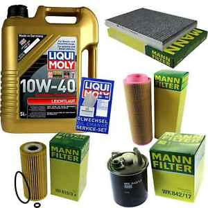 Inspection-Kit-Filter-LIQUI-MOLY-Oil-5L-10W-40-For-Mercedes-Benz-a-Class