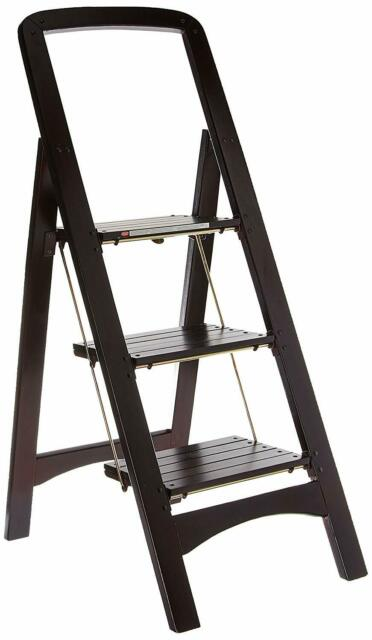 Miraculous Wood Step Stool Folding Portable Ladder Home Chores Closet Library Kitchen Climb Short Links Chair Design For Home Short Linksinfo
