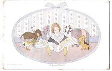 Willebeek Le Mair A HAPPY FAMILY CHILDREN ANIMALS OLD POSTCARD 1916