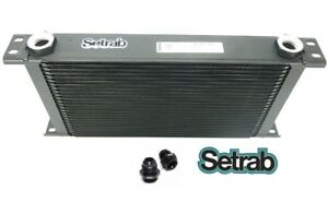 SETRAB-OIL-COOLER-P-N-925-25-ROW-P-N-50-925-7612-with-FITTINGS-FREE-SHIP