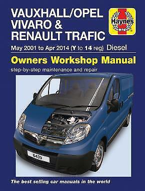 Haynes Vauxhall, Renault, Opel, Trafic, Vivaro, 1.9, 2.0 Turbo 01-14 Manual 6439