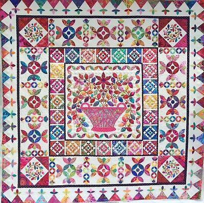 Kim Mclean Quilt Patterns.Flower Basket Medallion Applique Quilt Pattern By Kim Mclean Ebay