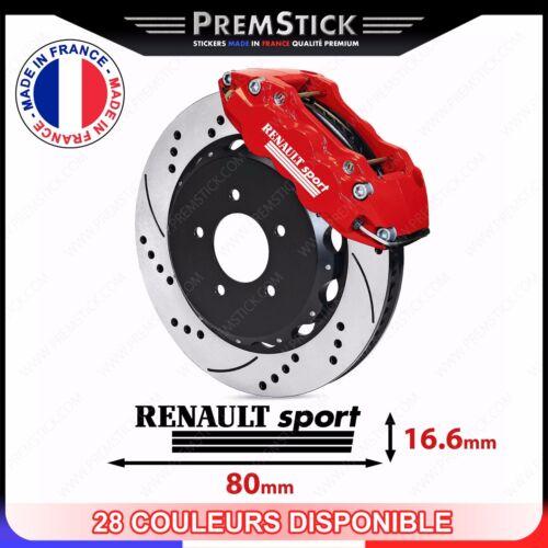 racing ref4 Kit 4 Stickers Etrier de Frein Renault Sport Autocollant voiture