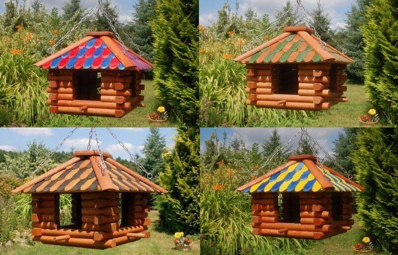 Luxus Vogelhaus Futterhaus zum aufhängen, hängend V13       Passend In Der Farbe    Bunt,