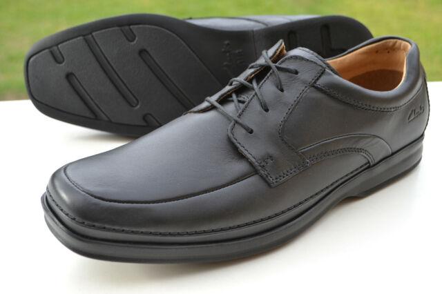 neuer Lebensstil verkauft 100% authentisch Clarks BNIB Mens Active Air Shoes SCOPIC WAY Black Leather UK 9.5 / 44 Wide  Fit