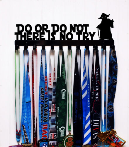 Wall Mount Medal Holder Display Do or do not There is no try Made in USA
