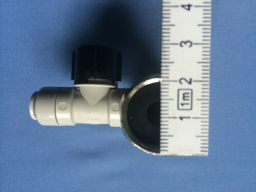 pas pour de Adaptateur osmose inverse sectionnement-Robinet d/'équerre avec clapet anti-retour 3//4x3//4x1//4