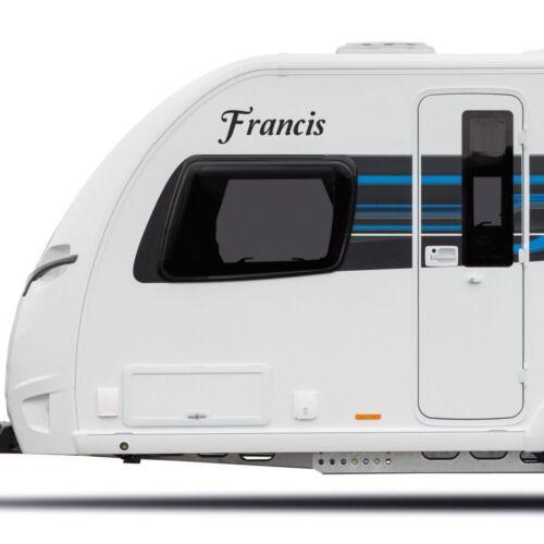 Personalised Name Motorhome Caravan Boat Sticker vinyl laptop Decal Graphic