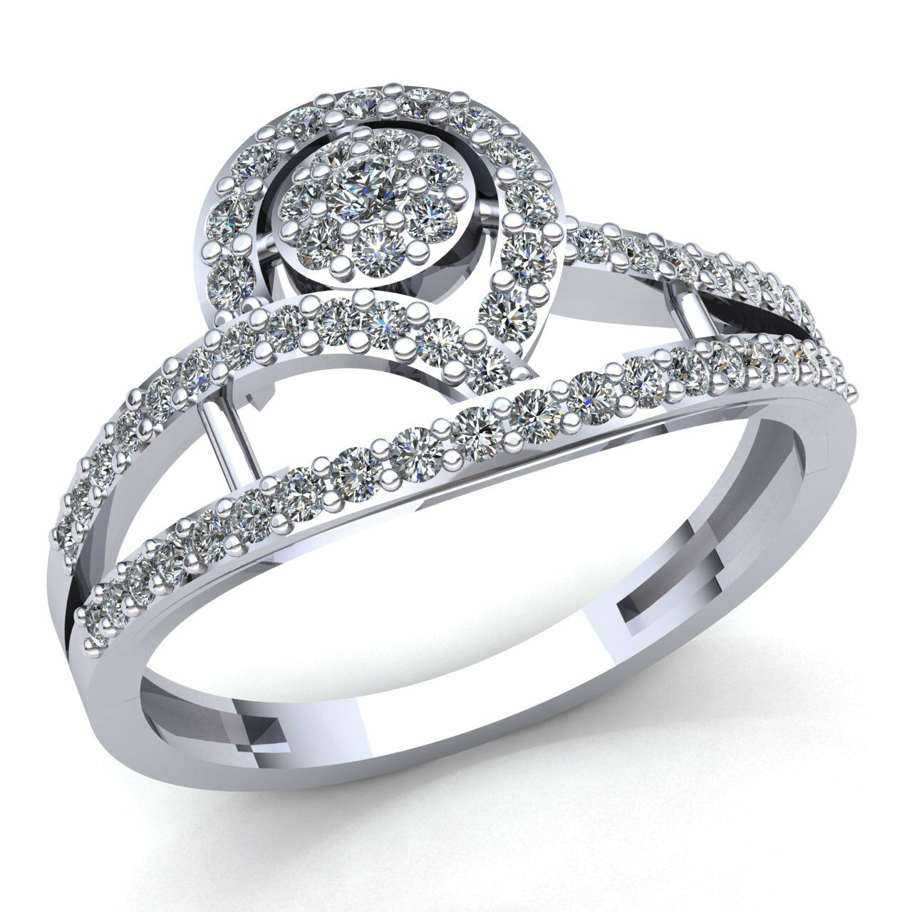 0.5ctw Round Diamond Ladies Twisted Anniversary Engagement Ring 10K gold