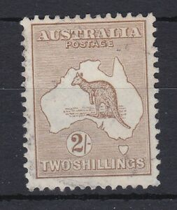 K819-Australia-1915-2-Brown-2nd-wmk-Kangaroo-BW-36-centred-a-little-high