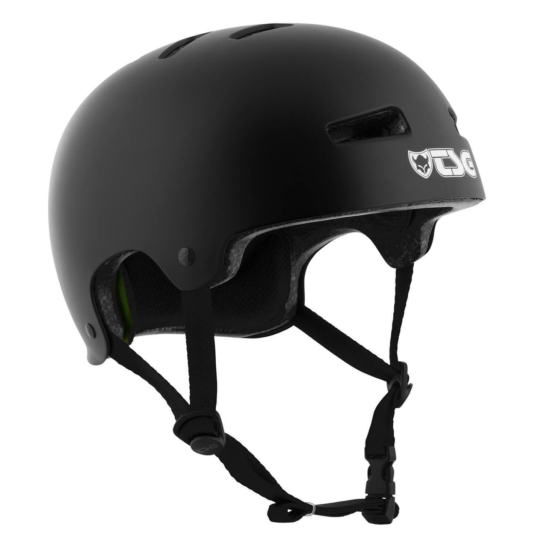 TSG TSG TSG Evolution Skatboard BMX Longboard Helm satin schwarz schwarz 7692d0