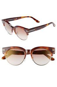 510509593479 Tom Ford Henri-02 TF598 53G Havana Brown Gold Sunglasses 52mm ...