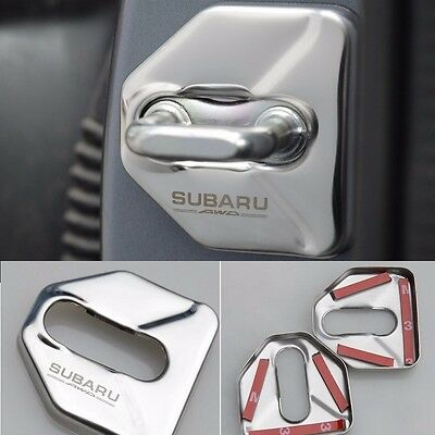 4pcs stainless steel door lock protective cover for Subaru Forester XV Outback