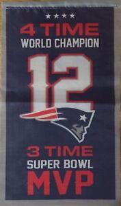 Tom Brady New England Patriots Banner 4X World Champion 3X Super ... 8940c747a