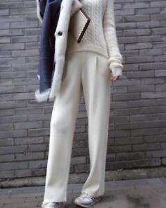 Pantalons Femme Pour Cachemire 2019 Évasés Haute Créateur De Inspiré Taille Tw8aq