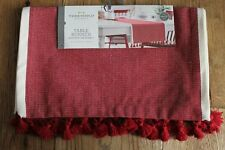 NWT Threshold Red Christmas Table Runner  14 x 72