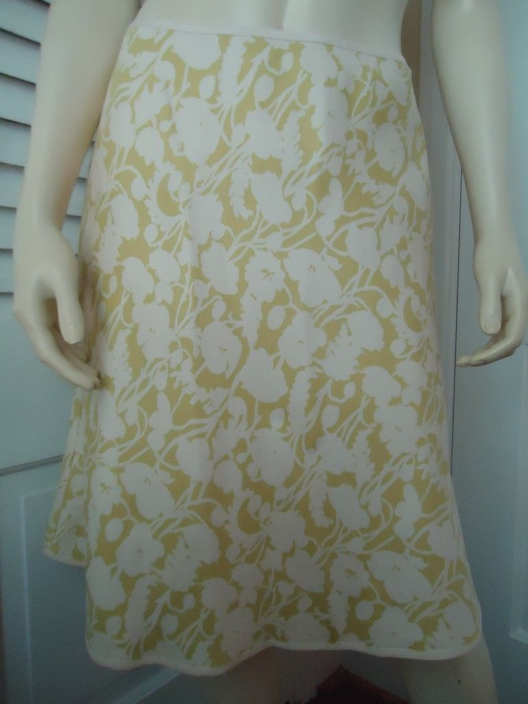 ANN TAYLOR PETITES Skirt 2P Silk A-Line Floral Lined No Waistband Side Zip SASSY