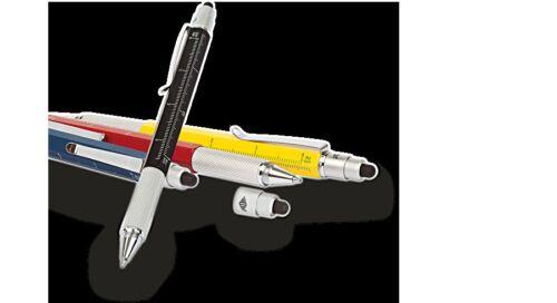 WEDO Touch Pen MULTI TOOL gelb Kugelschreiber m Duo-Bit Eingabestift Metall