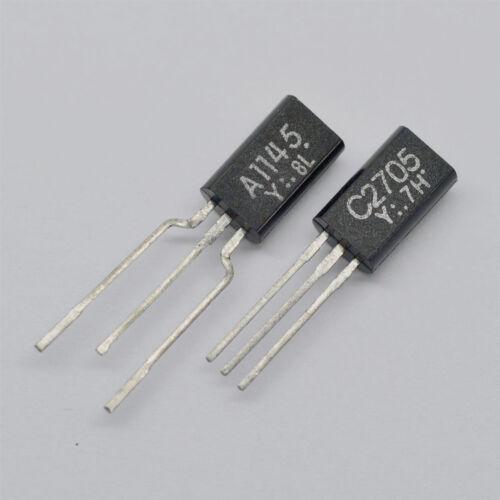 100/% nuevo y original 2SA1145-Y 2SC2705-Y A1145-Y C2705-Y TO-92