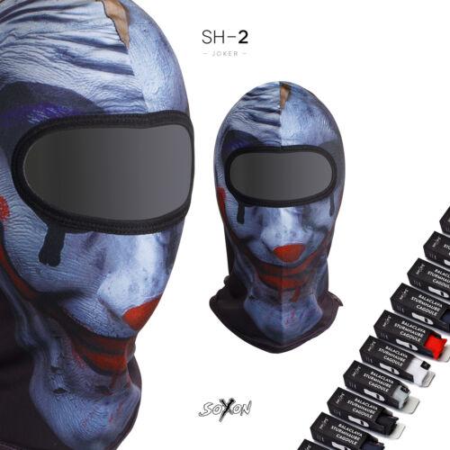 JOKER STURM-HAUBE Ski-Maske Motorrad Helm HALS-WÄRMER Roller SOXON SH-2