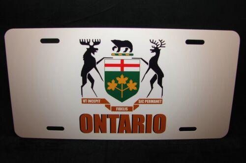 ONTARIO FLAG COAT OF ARMS CAR LICENSE PLATE  BRAS DE L/'ONTARIO