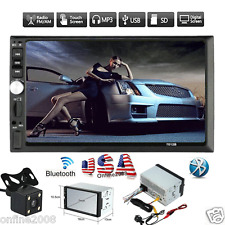 Double 2DIN In Dash Car DVD MP5 Player Bluetooth Auto Stereo Radio USB +Camera