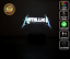 METALLICA BAND GIG ROCK 3D Acrylic LED 7 Colour Night Light Touch Table Lamp