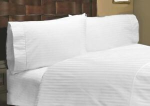 Soft Bedding Items 1000 Thread Count Egyptian Cotton US Sizes White Solid//Stripe