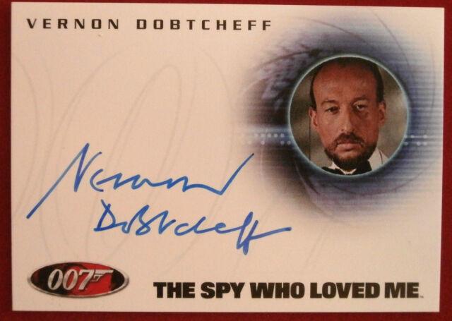JAMES BOND - The Spy Who Loved Me - VERNON DOBTCHEFF, Max Kalba - Autograph Card